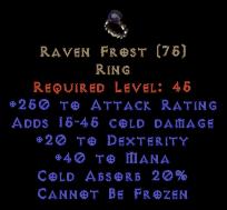 Raven Frost - +20 Dex & 250 AR - Perfect