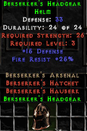 Berserker's Headgear - 33 Def - Perfect