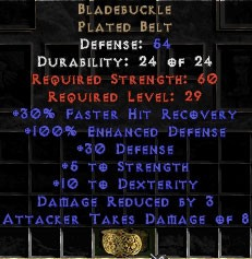 Bladebuckle54 Def, +100% ED - Perfect