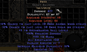 Bone Great Hauberk - 15% ED Base