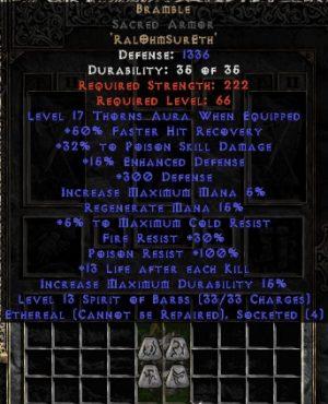 Bramble Sacred Armor - Ethereal - +25-39% PSD