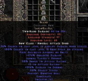 Brand - Crusader Bow - 260-319% ED