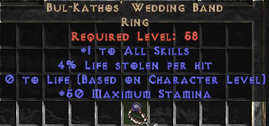 Bul-Kathos' Wedding Band - 3-4% LL