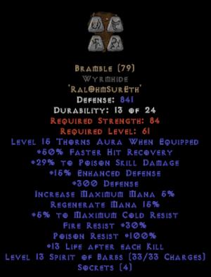 Bramble Wyrmhide - +25-39% PSD
