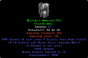 M'avina's Embrace - 873 Base Def, 12 MDR - Perfect