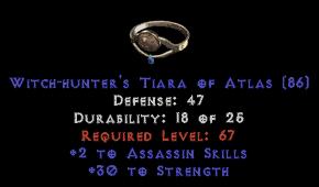 -+2 Assassin Skills/30 Str Diadem/Tiara/Circlet - 2 Socket