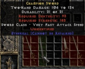 10x Unid Rare Champion Sword Ethereal