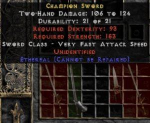 10x Unid Rare Champion Sword Ethereal