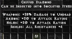 Chipped Diamond