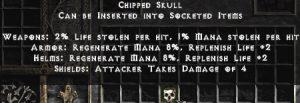 Chipped Skull