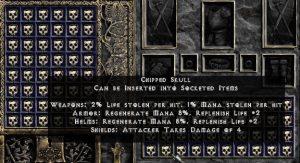 Chipped Skull - Pack of 88