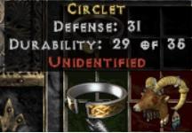 10 x Unid Rare Circlet