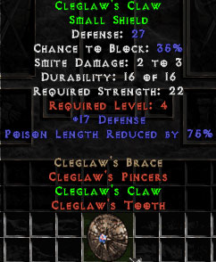 Cleglaw's Claw - 27 Def - Perfect