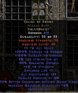 Chains of Honor Scarab Husk - Base 15% ED