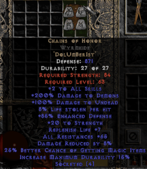 Chains of Honor Wyrmhide - Base 15% ED