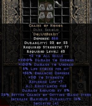 Chains of Honor Dusk Shroud