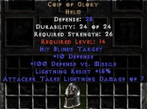 Coif of Glory - 28 Def - Perfect