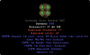 =+20/-20 Fire Facet Level-Up Dusk Shroud