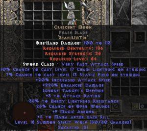 Crescent Moon Phase Blade - 210-219% ED