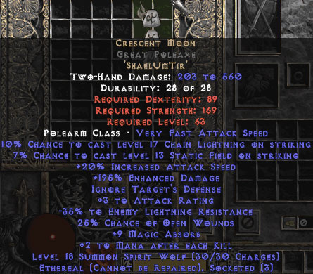 Crescent Moon Great Poleaxe - Ethereal - 180-209% ED