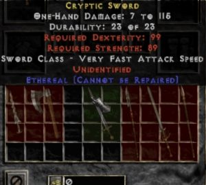10x Unid Rare Cryptic Sword Ethereal