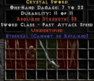 10x Unid Rare Crystal Sword Ethereal