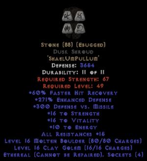 Stone Dusk Shroud - Eth Bugged - 270-289% ED
