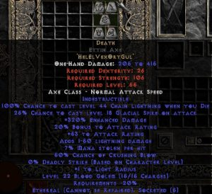 Death Ettin Axe - Ethereal - 300-349% ED