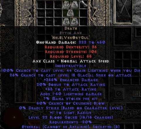 Death Ettin Axe - Ethereal - 350-379% ED