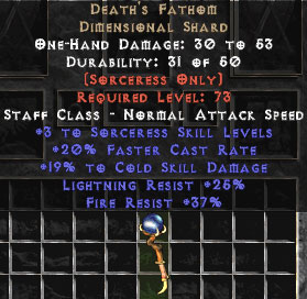 Death's Fathom 15-19% Cold Damage