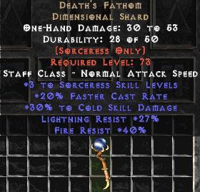 Death's Fathom 30% Cold Damage