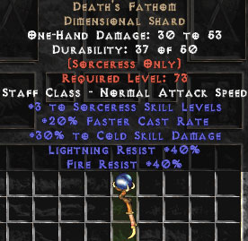 Death's Fathom - 30/40/40 - Perfect