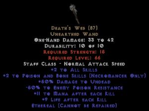 Death's Web - Ethereal - 1 P&B Skills