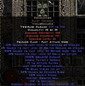 Destruction Giant Thresher - Ethereal - 0-14% ED