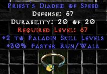 -+2 Paladin Skills/30% FRW Diadem/Tiara/Circlet - 0 Socket