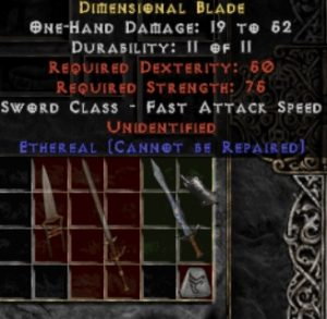 10x Unid Rare Dimensional Blade Ethereal