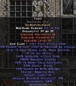 Doom Berserker Axe - 385% ED & 40-59% ECR