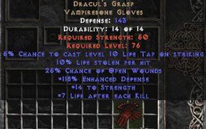 Dracul's Grasp 10% ll