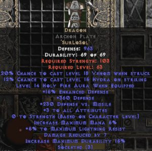Dragon Archon Plate - 3-4 All Stats