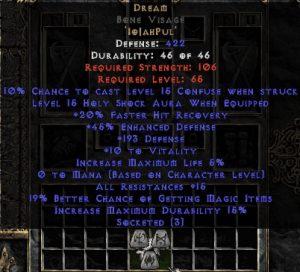 Dream Bone Visage - 15-19 Res - Base 15% ED