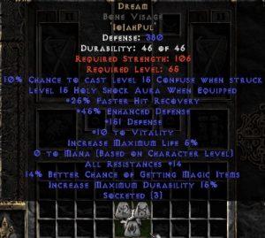 Dream Bone Visage - 5-14 Res - Base 15% ED