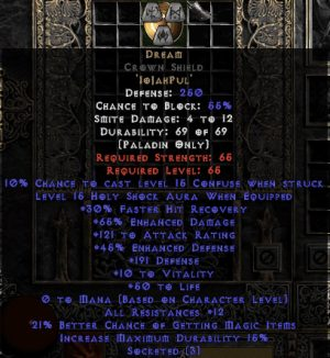 Dream Crown Shield - 65/121 AR - 5-14 Res