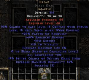 Dream Death Mask - 15-19 Res - Base 15% ED