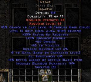 Dream Death Mask - 5-14 Res - Base 15% ED