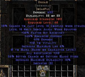 Dream Demonhead - 20 Res/20-29% FHR/12-25% MF/150-220 Def