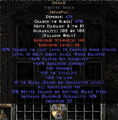 Dream Vortex Shield - 45 Res - 50-59 Res