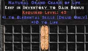 Druid Elemental Skills w/ 10-20 Life GC