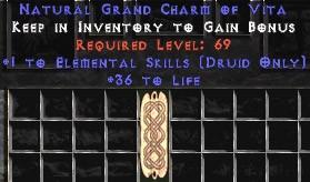 Druid Elemental Skills w/ 36-39 Life GC