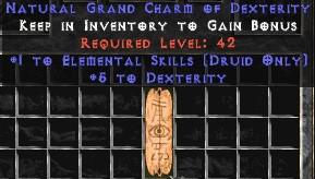 Druid Elemental Skills w/ 3-5 Dex GC