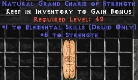 Druid Elemental Skills w/ 3-5 Str GC